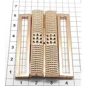 Пряжка Е191 5см разъемная светлое золото