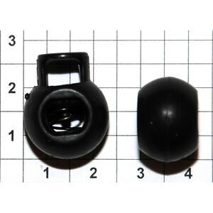 Зажим фиксатор 3121 шарик черный