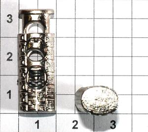 Зажим фиксатор 3868 никель
